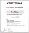 Certifikát - materiál TiZn